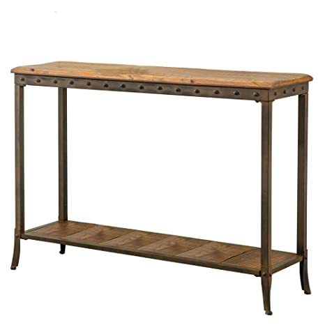 Fine Amazon Com Rustic Console Table Narrow Iron Wood Farmhouse Squirreltailoven Fun Painted Chair Ideas Images Squirreltailovenorg