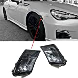 JDM Crystal Smoke Front Bumper Side Marker Lights for Scion FR-S / Subaru BRZ ZC6