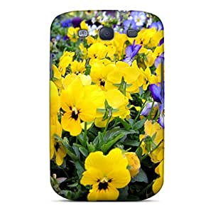 MSCnwHs8810ZTdVF Case Cover, Fashionable Galaxy S3 Case - Beautiful Garden Of Pansies