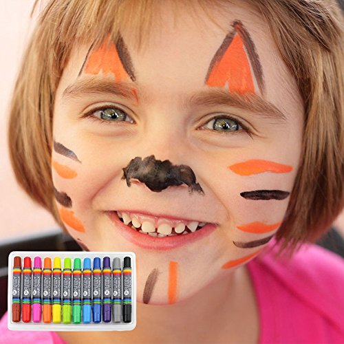 FUNDIY Kids Hair Chalk Set Hair Chalk Pens of 12 Brilliant Colors - Temporary Color Washable and Safe for Children - Good Choice for Party, Halloween, Cosplay, Birthday Gift by FUNDIY (Image #7)