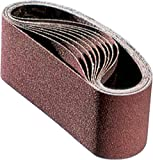 PFERD 49641 Pneumatic Abrasive Drum Belt, Ceramic Oxide Co-Cool, 15-1/2'' Length x 3-1/2'' Width, 40 Grit (Pack of 10)