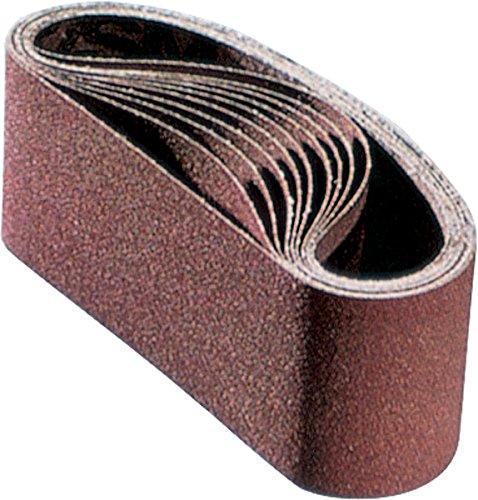 PFERD 49643 Pneumatic Abrasive Drum Belt, Ceramic Oxide Co-Cool, 15-1/2'' Length x 3-1/2'' Width, 80 Grit (Pack of 10)