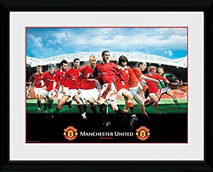 amazon com gb posters manchester united legends framed photo