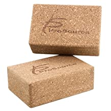 "ProSource Cork Yoga Blocks Set of 2, available in 22.75 L x 15.25 H x 7.6 cm W and 22.75 L x 15.25 H x 10 cm W  (9""x6""x3"" and 9""x6""x4"")"