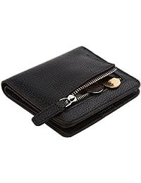 Billetera DANTE para damas, de cuero, a prueba de identificación por radiofrecuencia, plegable, con compartimiento...