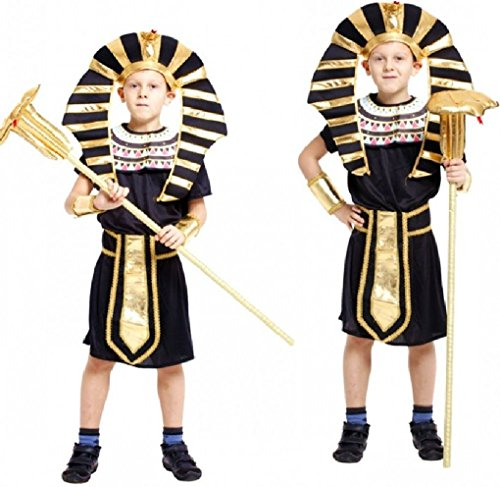Fancy Festival Children Halloween Cosplay Costumes Egyptian Pharaoh Prince (Egyptian Custume)