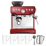 Breville BES870CBXL The Barista Express Coffee Machine Cranberry Red Bundle