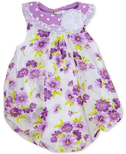 - Baby Essentials Floral-Print Bubble Romper (Purple Floral, 9 Months)