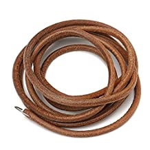 """Raza Household 72"""" 183cm Leather Belt Treadle Parts With Hook For Singer Sewing Machine 3/16"""" 5mm Home Old Sewing Machines Accessory"""