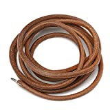 "72"" 183cm Leather Belt Treadle Parts With Hook For Singer Sewing Machine 3/16"" 5mm Home Household Old Sewing Machines Accessory Vintage"