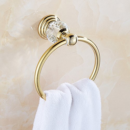 GuRun crystal Towel Rings for bathroom, Holder Ring with Diamond , Chrome Finish GR33360 60%OFF