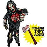 Spooktacular Creations Zombie Deluxe Costume for Child with Bloody Axe (M(8-10))