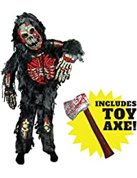 Zombie Deluxe Costume Child Bloody Axe