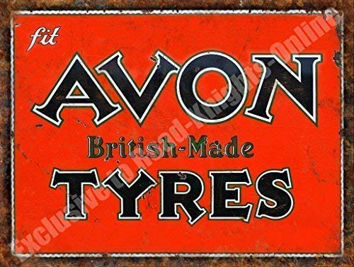 Avon Neumáticos Hecho En Gran Bretaña Oxidado Garaje Vintage ...