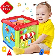 6 in 1 Multipurpose Activity Cube Baby Toys 12-18 Month Baby Toys 6 12 Month Musical Color Shape Sorter Toy Gi