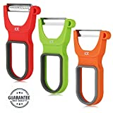 Peeler Vegetable Peeler Set Of 3 New Magic Trio Peelers Swivel Sharp Silicone Non-slip Handle Kitchen Gadgets Tools