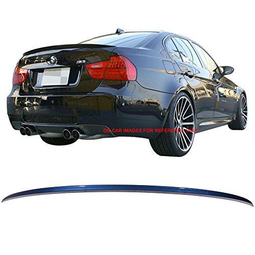 Trunk Spoiler Fits 2006-2011 BMW 3-Series E90 4Dr Sedan OE Style ABS Rear Deck Lip Wing Bodykits by IKON MOTORSPORTS