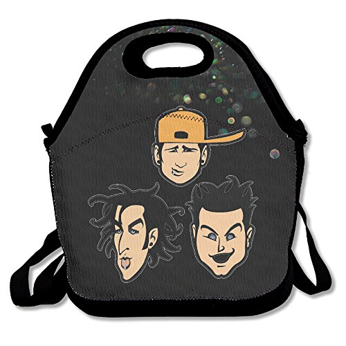 Bakeiy American Rock Band Heads Lunch Tote Bag Lunch Box Neo