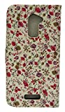Emartbuy Premium PU Leather Wallets / Flips Case Cover Pink Floral For Coolpad Note 3 Lite