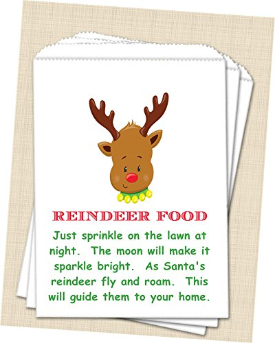 Christmas Reindeer Food Bags, Kids Christmas Reindeer Favor Bags ()