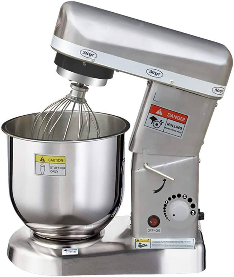 CGOLDENWALL Commercial Electric Food Mixer Dough Mixer Maker Egg Milk Mixer 3 Speeds Adjustable 10.5 Quart 110V/220V (stainless steel type)