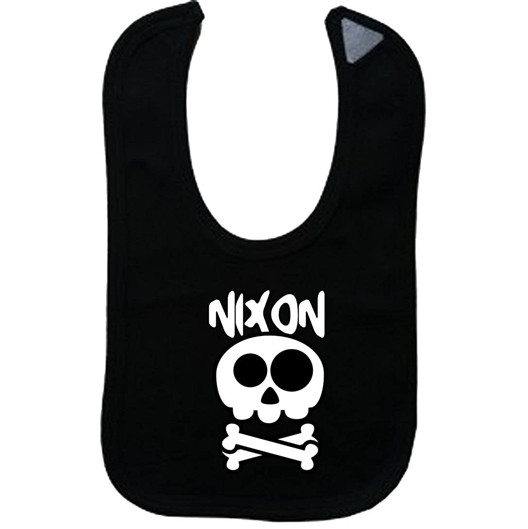 NIXON - Vintage Skull And Bones - Name-Series - Black Bib
