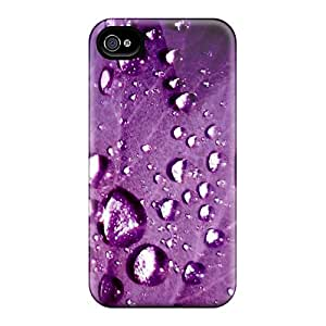 Top Quality Case Cover For Iphone 4/4s Case With Nice Purp Appearance