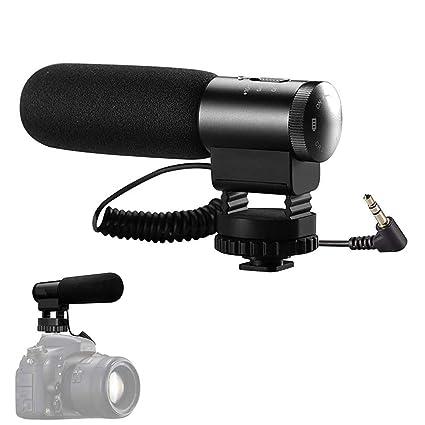 YTBLF Micrófono en Vivo, micrófono de entrevista de la cámara de ...