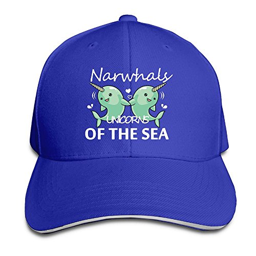 Macevoy Narwhals Unicorns Of The Sea Casual Unisex Unstructured Cotton Cap Adjustable Baseball Hat Cap - Ideas Valentinea Day