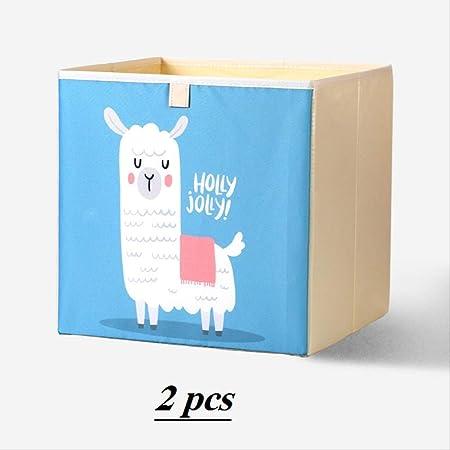 Caja Juguetes almacenaje, Cajas De Juguetes Plegables, Una Caja De Almacenamiento para Niños Y Niñas, Libros, Ropa (2 Piezas) (Alpaca Azul): Amazon.es: Hogar