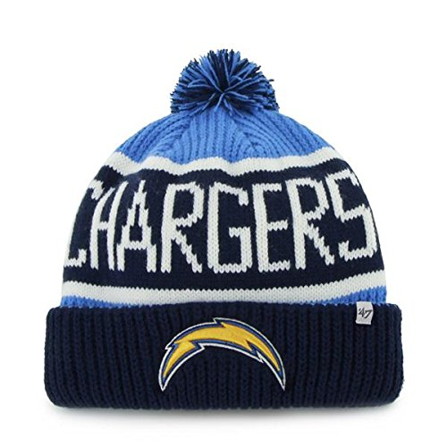 san-diego-chargers-blue-razz-cuff-calgary-beanie-hat-with-pom-nfl-sd-cuffed-winter-knit-toque-cap