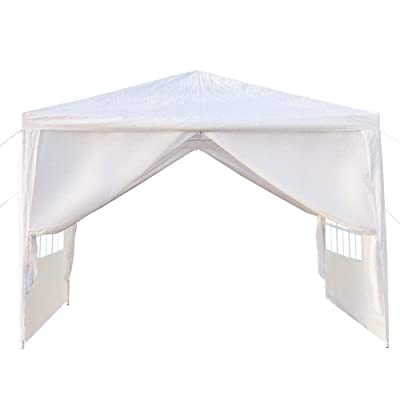 SHENWEI LIU Party Tent 3 x 3m Four Sides Portable Home Use Waterproof Tent with Spiral Tubes, Outdoor Gazebo, Canopy Wedding Party Tent (White) : Garden & Outdoor