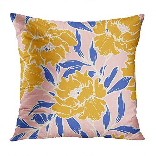 Wesbin Throw Pillow Cover Abstract Elegance Pattern Floral Background New Living Hidden Zipper Home Sofa Decorative Cushion 18x18 Inch Square Design Print