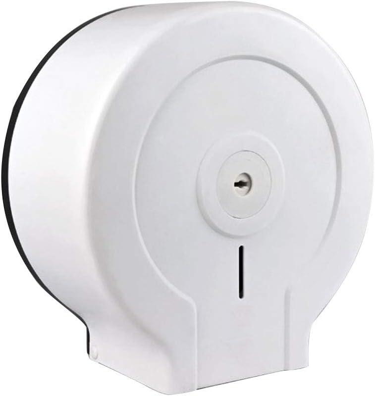 Blanc Papier Toilette Distributeur Mural Porte-Papier Rouleau Papier Hygi/énique Mont/é Distributeur De Papier pour Bobine Grande Plaque