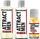 PhermaLabs Pheromones Mini Travel Kit for Women to Attract Men includes: Body Lotion, Body Wash and Body Oil. The Secret to Attract all the Men to you!!