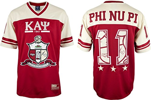 Cultural Exchange Big Boy Kappa Alpha Psi Divine 9 S7 Mens Football Jersey [Crimson Red - 2XL] -