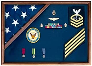 product image for Medal Glass Display Case Shadow Box,Flag and Medal Display