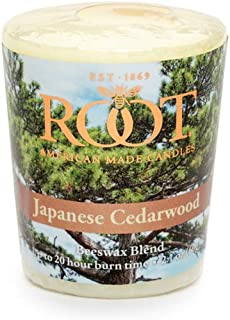 product image for Root Candles 20-Hour Scented Beeswax Blend Votive Candles, 18-Count, Japanese Cedarwood