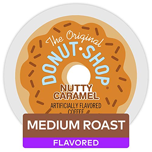 - The Original Donut Shop Keurig Single-Serve K-Cup Pods, Medium Roast Coffee , Nutty Caramel, 72 count (12 count, Pack of 6)