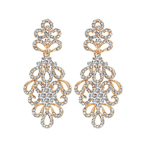 mecresh Floral Gold Chandelier Dangle Earrings for Women or ()