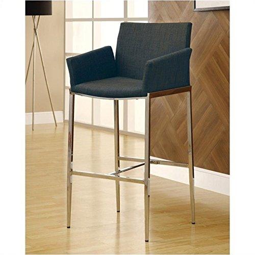 Coaster 120727 Charcoal Tone Upholstery Barstool Chrome Base Set Of 2 (Tone Upholstery)