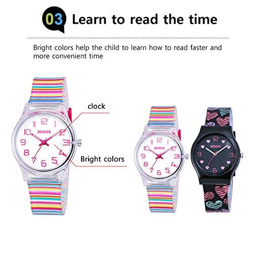 ec5d9a1c3 Zeiger Cool Display Easy Read Time Teacher Teen Young Girls Children Kids  Watches Resin Band(