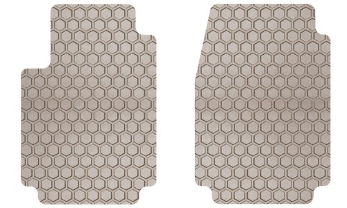 Intro-Tech NS-115F-RT-T Hexomat Front Row 2 pc. Custom Fit Auto Floor Mats for Select Nissan 280ZX Models - Rubber-like Compound, (Nissan 280zx Auto)