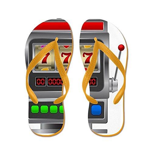 CafePress Slot Machine - Flip Flops, Funny Thong Sandals, Beach Sandals Orange