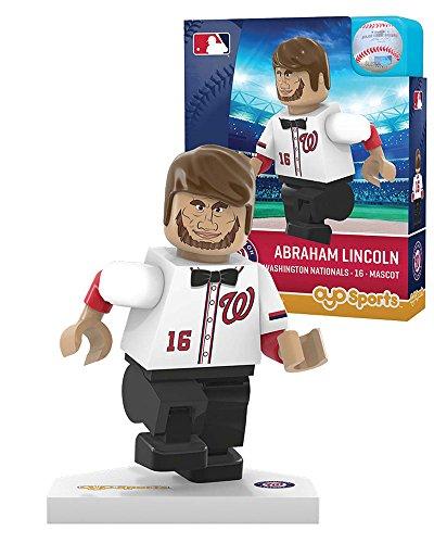 Mlb Houston Astros Washington Nationals Abe Lincoln Mascot Limited Edition Minifigure  Small  White