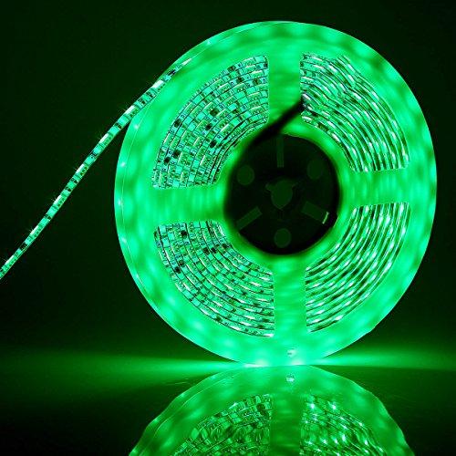 BINZET DC12V 5M 300LED 5050SMD Green LED Light Strip Waterpr