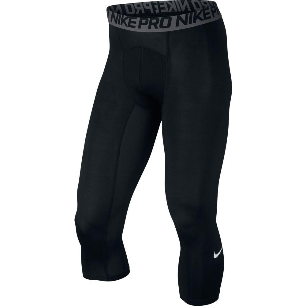 NIKE HYPERCOOL MAX 3/4 TIGHT, Black/Dark Grey/White, Small by Nike (Image #1)