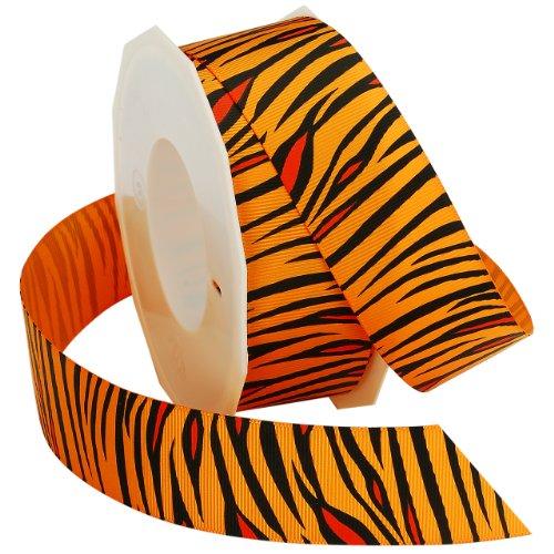 Morex Ribbon Tiger Grosgrain Ribbon, 1-1/2-Inch by 20-Yard, Orange