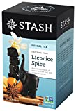 Stash Tea Licorice Spice Herbal Tea, 20 Tea Bags (Pack of 6)