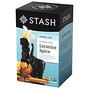 Stash Tea Licorice Spice Herbal Tea 20 Count Tea Bags in Foil (Pack of 6), Tea Bags Individually Wrapped in Foil (packaging may vary), Naturally Sweet Herbal Tisane, Zero Caffeine, Drink Hot or Iced 8